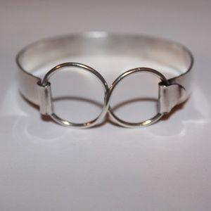 Infinite cuff bracelet sterling silver